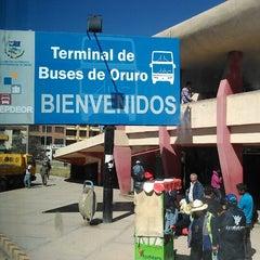 Photo taken at Terminal de Buses Oruro by Pathy S. on 7/25/2013