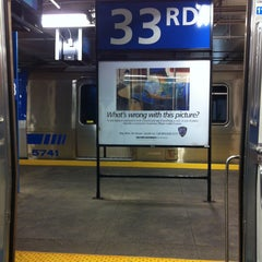 Photo taken at 33rd St PATH Station by Bill V. on 5/3/2013