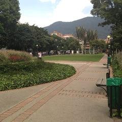 Photo taken at Parque de la 93 by Carlos L. on 4/5/2013