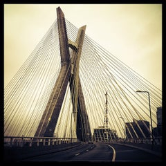 Photo taken at Ponte Octávio Frias de Oliveira (Ponte Estaiada) by Henrique L. on 7/23/2013
