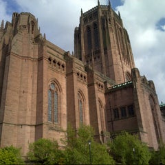 Photo taken at Liverpool Cathedral by Thibaud S. on 5/26/2013