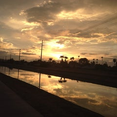Photo taken at Tempe Canal @ Guadalupe Rd by Stu H. on 7/16/2013
