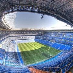 Photo taken at Estadio Santiago Bernabéu by Miguel V. on 7/9/2013