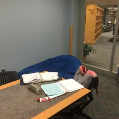 Photo taken at WVU Evansdale Library by Danial Z. on 11/17/2015