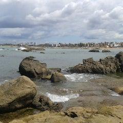 Photo taken at Praia de Itapuã by !#|BetaLab|Guto P. on 4/9/2013
