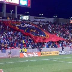 Photo taken at Rio Tinto Stadium by Kassie W. on 3/27/2011