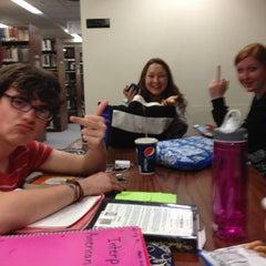 Photo taken at McKillop Library - Salve Regina by Julie G. on 4/11/2013