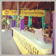 Photo taken at Cafe El Expresso Sayulita by Jon K. on 4/24/2013