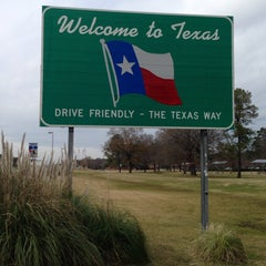 Photo taken at Louisiana / Texas State Line by Erlie P. on 12/29/2013