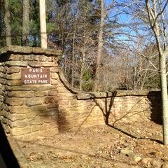 Photo taken at Paris Mountain State Park by Ryan S. on 11/24/2012