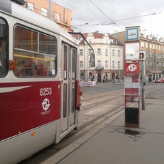 Photo taken at Průběžná (tram) by Melinka M. on 4/10/2013