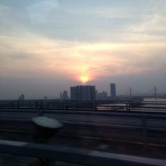 Photo taken at สะพานพระราม 9 (Rama IX Bridge) by pong lom on 2/18/2013