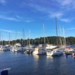 Photo taken at Gåshaga Marina by Sándor B. on 8/23/2015