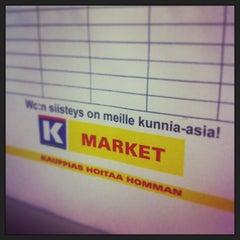 Photo taken at Neste Oil K-market by Perttu H. on 9/21/2013