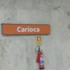 Photo taken at MetrôRio - Estação Carioca by Marcelo A. on 4/19/2013