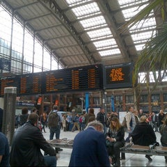Photo taken at Station Gare Lille-Flandres ⓇⓉ by Daniëlle V. on 4/17/2014