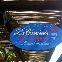 Photo taken at La Corriente Cevichería Nais by Pedro on 4/6/2013