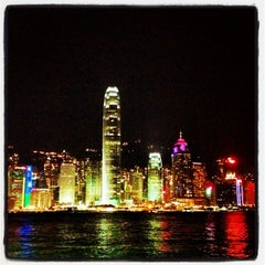 Photo taken at Victoria Harbour 維多利亞港 by KC A. on 12/30/2012