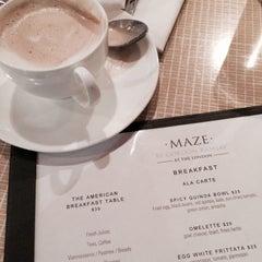 Photo taken at Maze Restaurant by ryanne on 6/16/2015