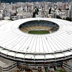 Photo taken at Estádio Jornalista Mário Filho (Maracanã) by Rodrigo C. on 7/13/2013