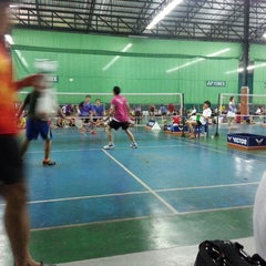Photo taken at CC Badminton Court by Kung K. on 2/2/2014