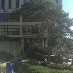 Photo taken at Wescoe Hall by Andy A. on 11/23/2015