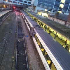 Photo taken at Harrogate Railway Station (HGT) by Spencer H. on 11/19/2012