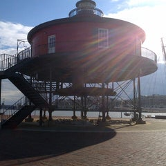 Photo taken at Seven Foot Knoll Lighthouse by Stephanie H. on 11/2/2012