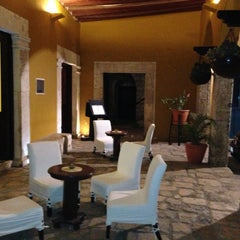 Photo taken at Hacienda Puerta Campeche by Juan Jose D. on 4/28/2013