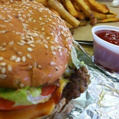 Photo taken at Five Guys by Wendy B. on 7/25/2014