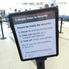 Photo taken at TSA Security Checkpoint by K. K. on 11/30/2013