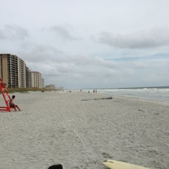 Photo taken at Jax Beach At South 15th Ave by Felix G. on 8/25/2013