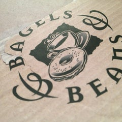 Photo taken at Bagels & Beans by PB d. on 3/29/2013