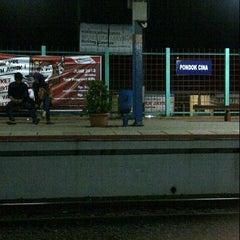 Photo taken at Stasiun Pondok Cina by Akbar R. on 6/1/2013