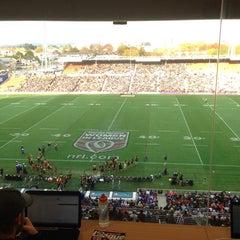 Photo taken at Waikato Stadium by Bodie F. on 5/18/2014