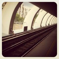 Photo taken at Tampines MRT Station (EW2/DT32) by Katana Masamune on 6/16/2012
