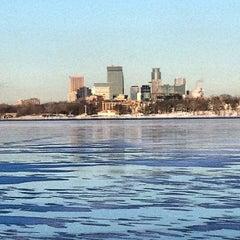 Photo taken at Lake Calhoun by Mike T. on 12/26/2012