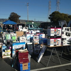 Photo taken at Oakland Coliseum Flea Market by Sally Ann B. on 2/9/2013