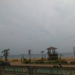 Photo taken at Kollam Beach by M C. on 11/6/2013