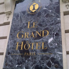 Photo taken at InterContinental Paris Le Grand Hôtel by Nicolas B. on 10/23/2012