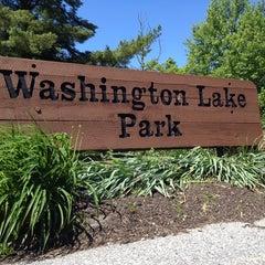 Photo taken at Washington Lake Park by Nancy B. on 5/26/2013