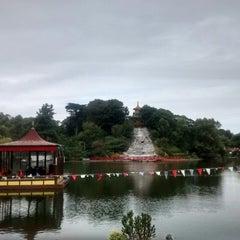 Photo taken at Peasholm Park by Jamie D. on 8/25/2014
