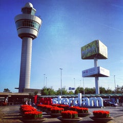 Photo taken at Amsterdam Airport Schiphol (AMS) by Toby on 7/24/2013