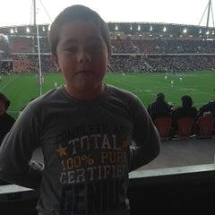 Photo taken at Waikato Stadium by Tav L. on 5/18/2014