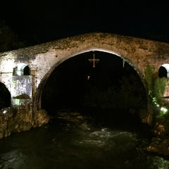 Photo taken at Cangas de Onís by Leonor R. on 4/27/2015