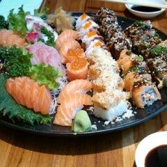 Photo taken at Sushi Papaia by Sarah C. on 6/16/2013