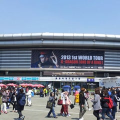 Photo taken at 올림픽체조경기장 (Olympic Gymnastics Arena) by William S. on 3/31/2013