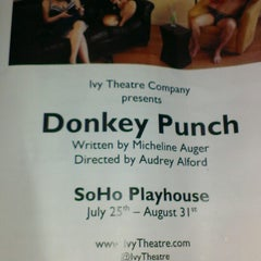 Photo taken at SoHo Playhouse by Andrew S. on 8/4/2014