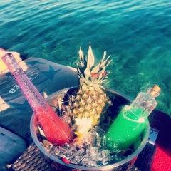 Photo taken at KafePi Beach Club by Ceyda Z. on 7/23/2013