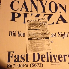 Photo taken at Canyon Pizza by Jon S. on 10/7/2012